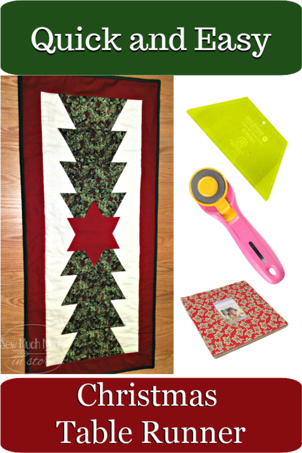 These came together so simply! These are such a fun and easy project! I just loved making one, so I had to make several more! Let's get started! #Easy #Patterns #Tutorial #Christmas #project #Fabric #TableRunner #DIY #Ideas #Basic #Quilt #HomeDecor #Quilting #Quilter #SewMuchMoore #SewMuchMooreInStore