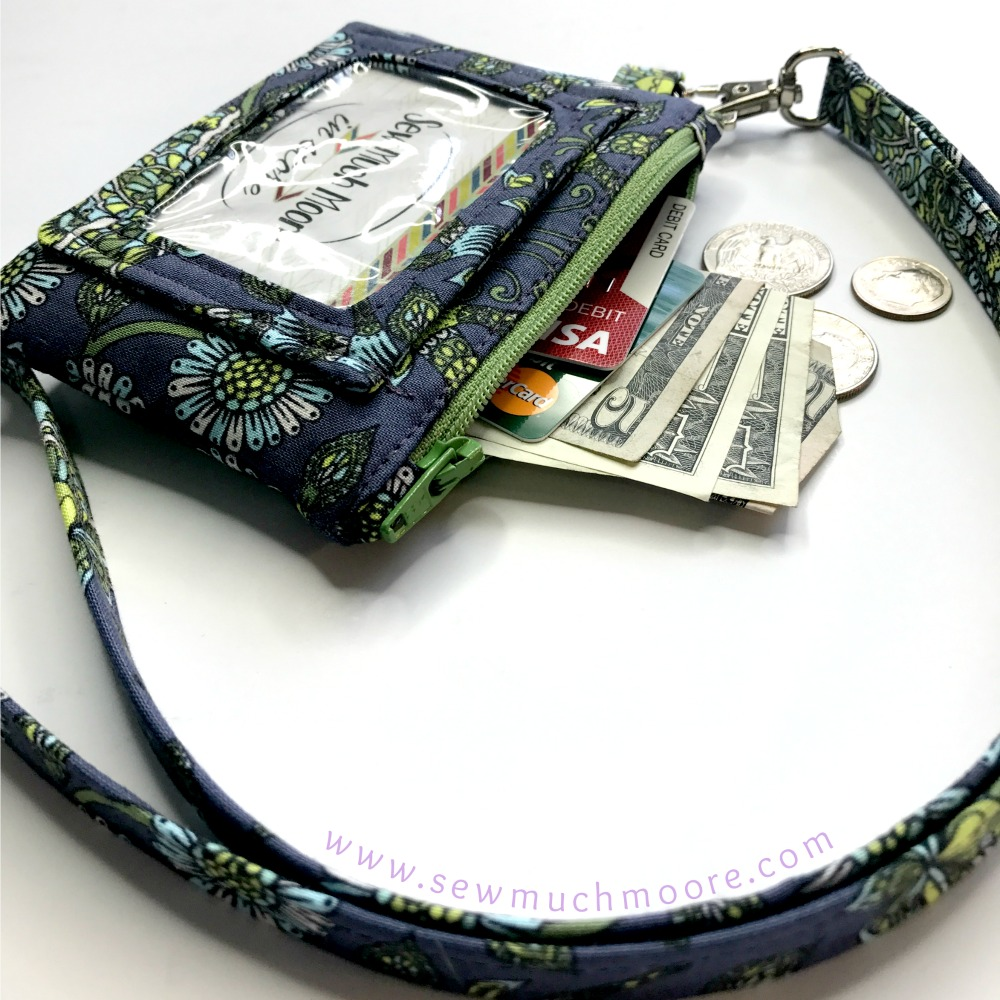 Deer Me Tula Pink ID Wallet with Lanyard