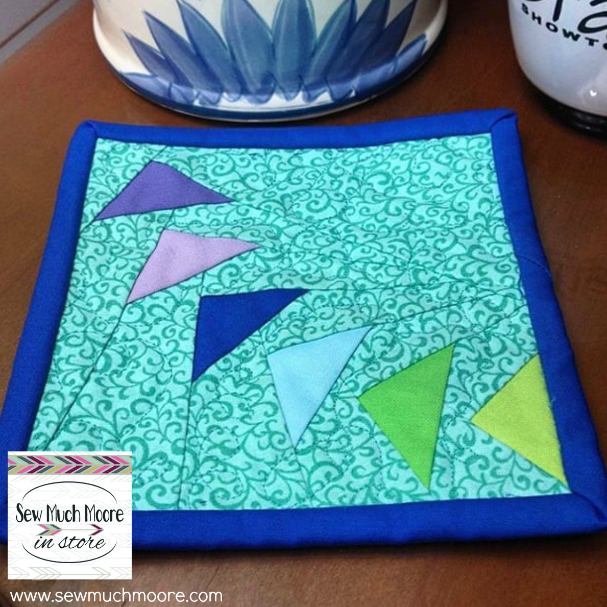 Paper pieced coaster