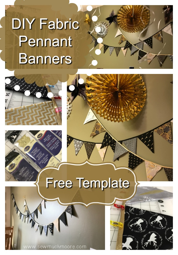 Diy fabric pennant banners for Diy will template