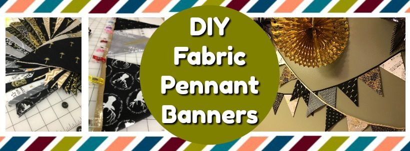 diy fabric pennant banners. Black Bedroom Furniture Sets. Home Design Ideas