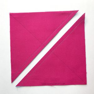 Ohio Star sew on line and cut on solid diagonal line image