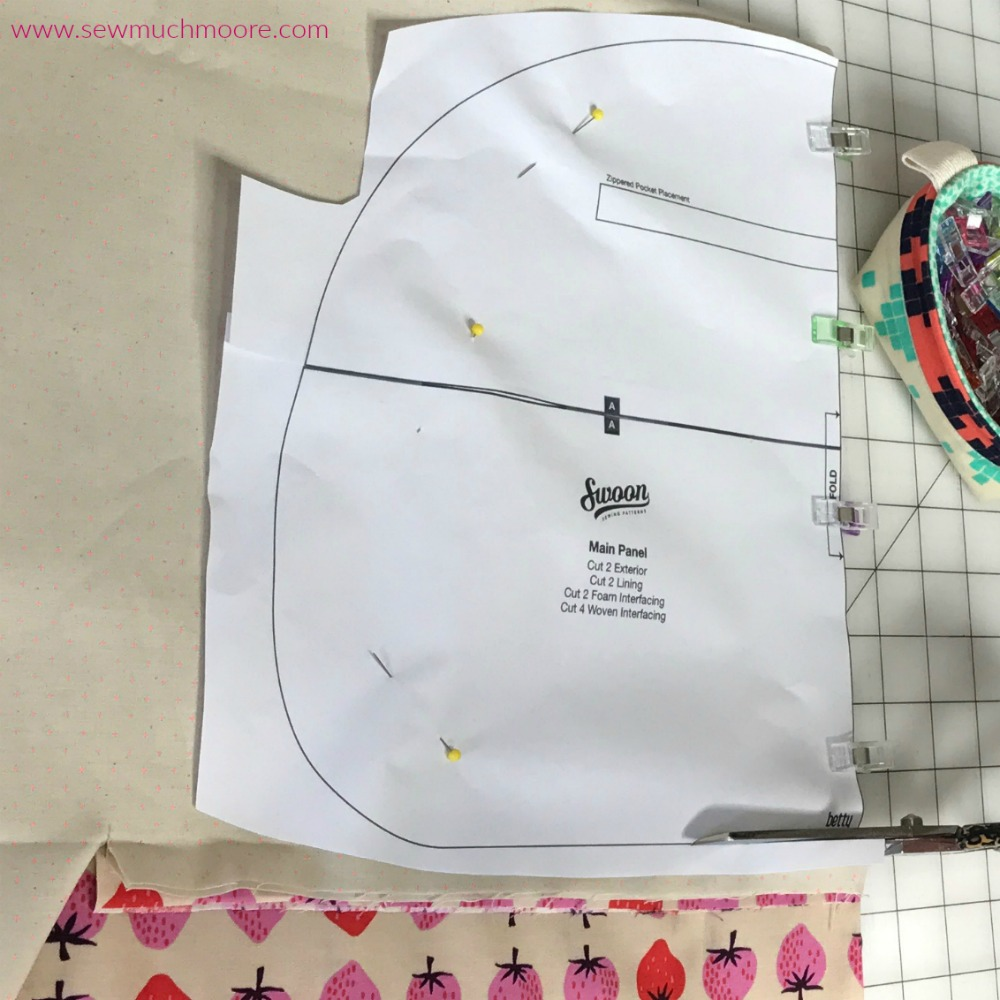 Betty Bowler Swoon Pattern - Cutting it out