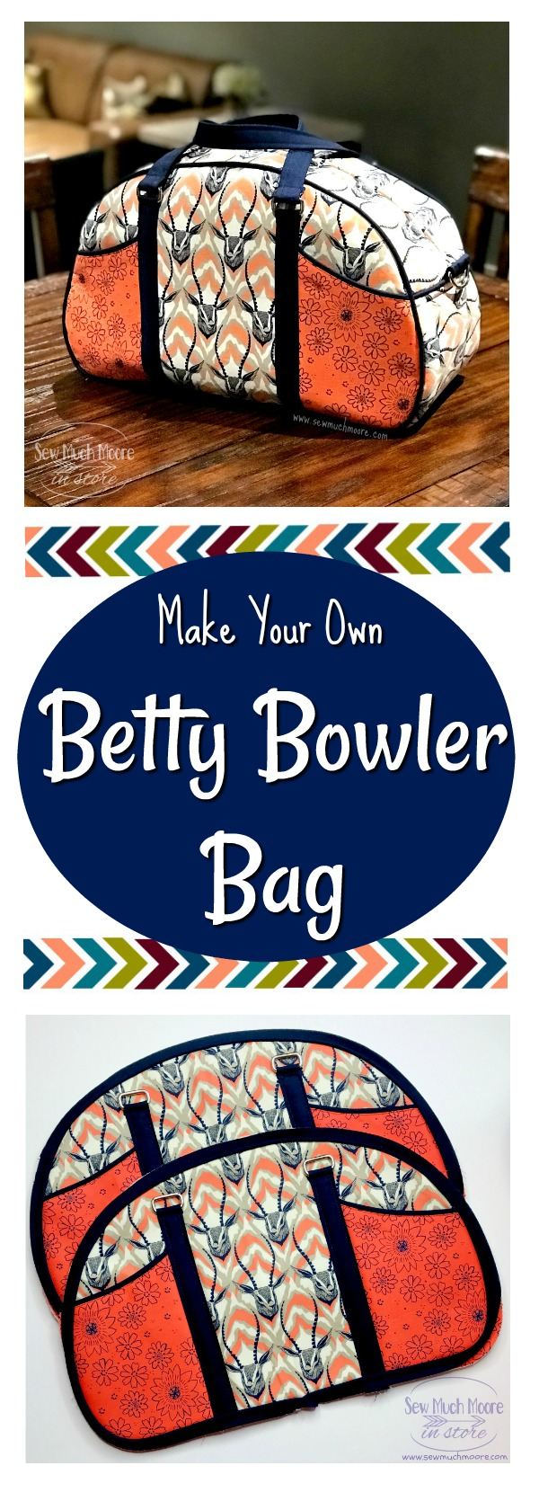 Check out these tips and tricks to make your own Betty Bowler Bag by Swoon Patterns. It's easier than you think! Video tutorial and pattern info #sewing #bagmaking #bettybowlerbag #sewingtutorials #sewing #tutorials #luggage