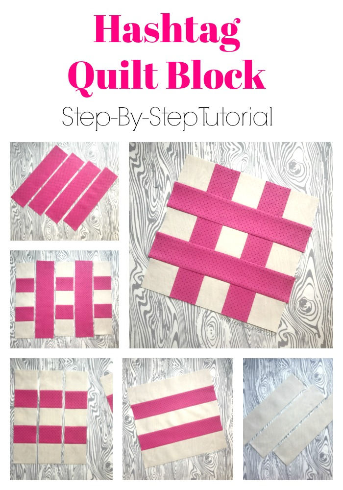 Hashtag Quilt Block Pinterest Pin