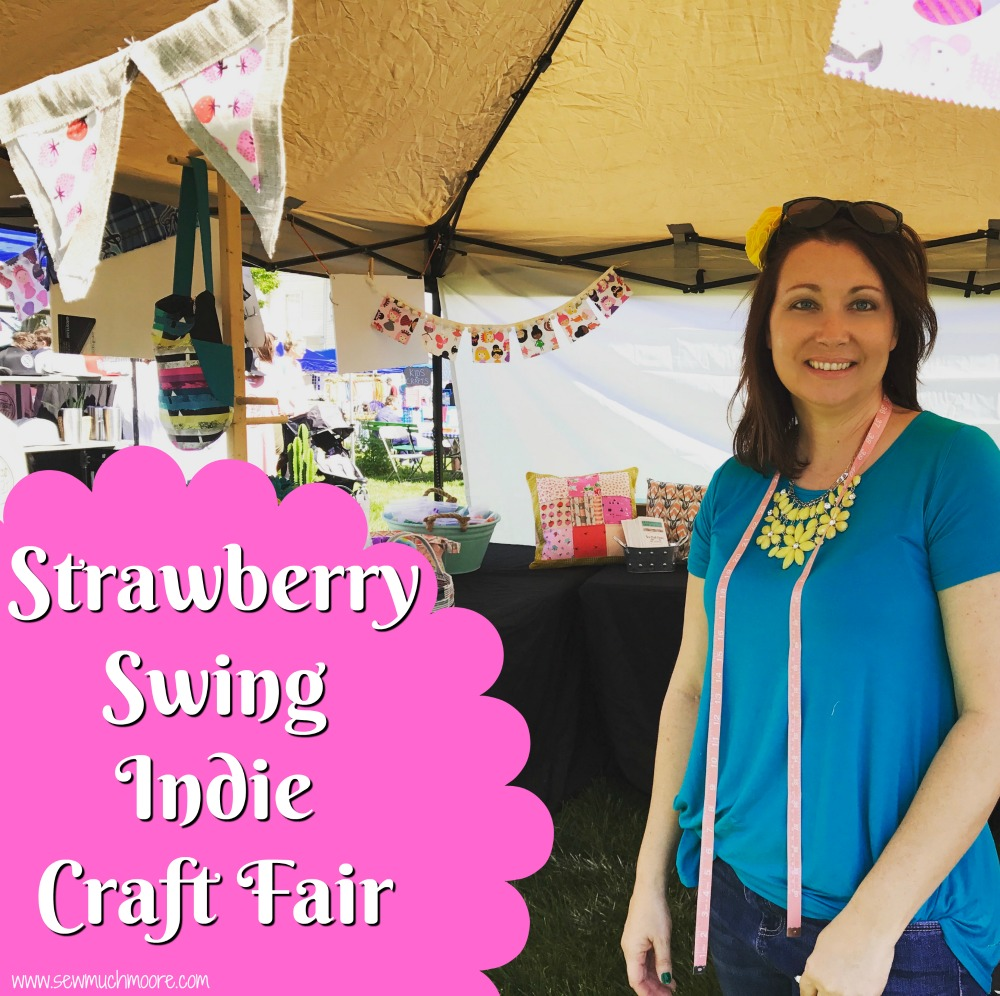 Image of my Strawberry Swing Spring Festival Booth - How to Sell your Handmade Goods