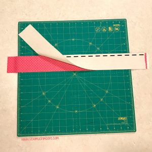 Churn Dash Quilt Block - Step 2