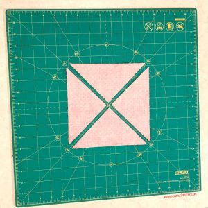 Churn Dash Quilt Block - Step 5