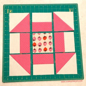 Churn Dash Quilt Block - Step 6