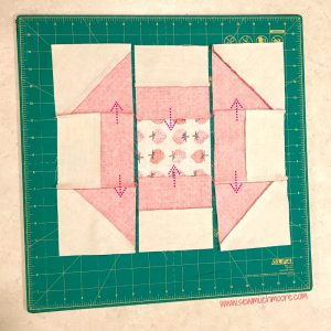 Churn Dash Quilt Block - Step 7