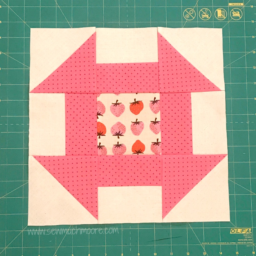 Churn Dash Quilt Block - Step 8