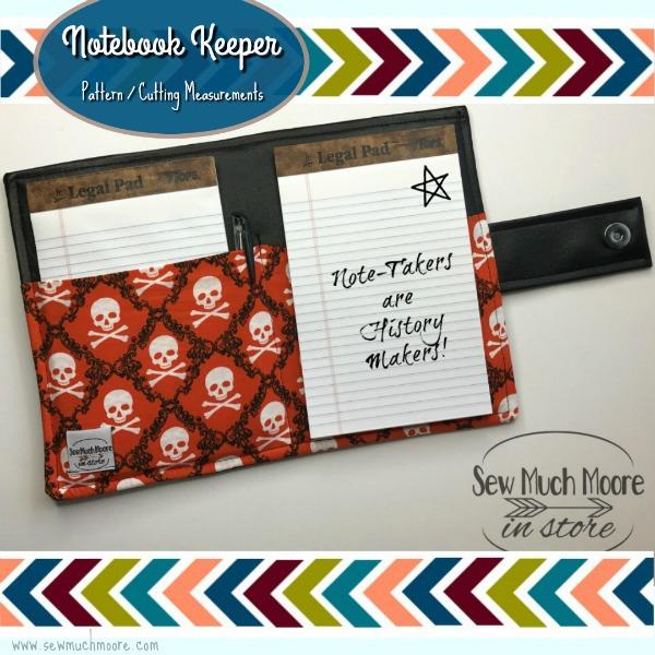 Notebook Keeper PDF Cutting Measurements