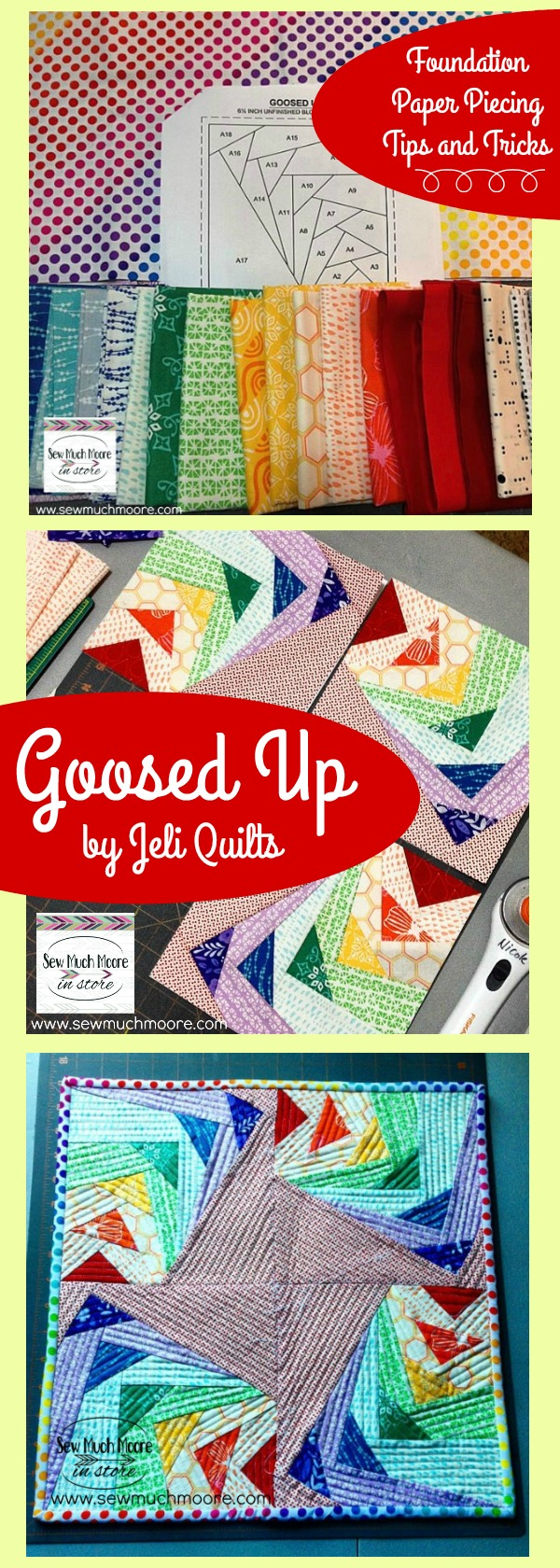 Jeli Quilts Rainbow Mini Quilt DIY