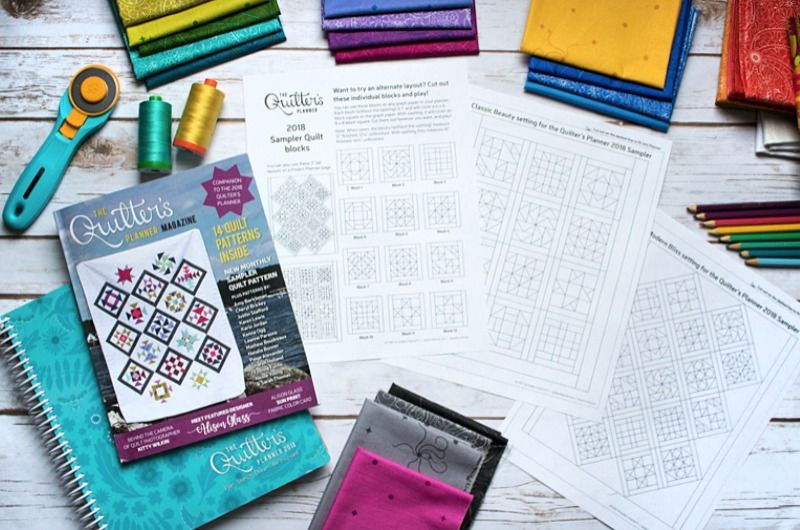 2018 Quilter's Planner - Coloring Pages