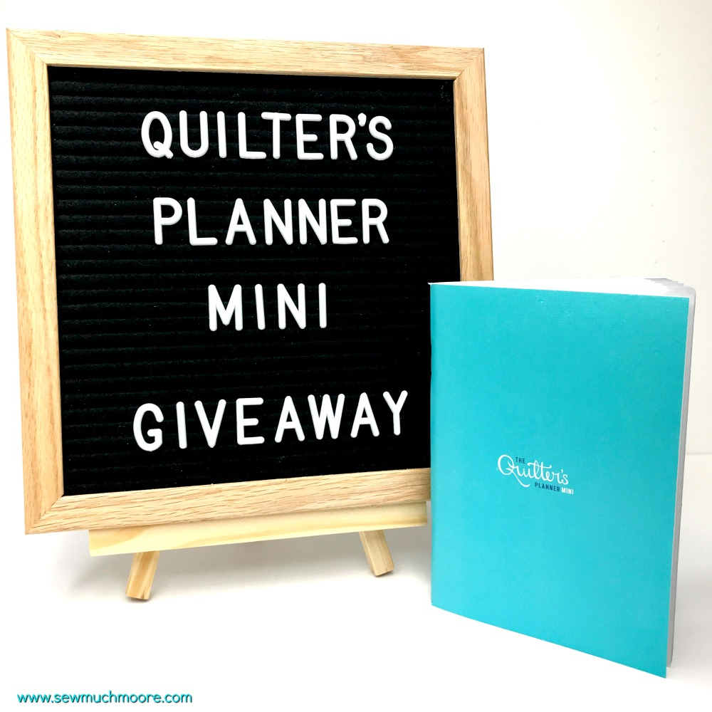 2018 Quilter's Planner - Giveaway