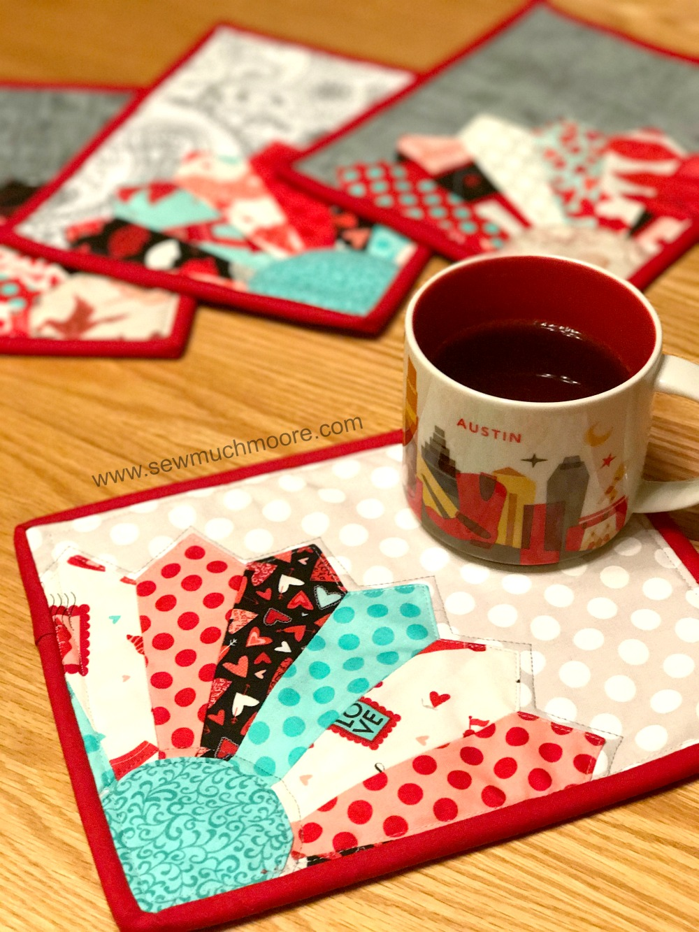 Valentines Day Mug Rug Main Picture