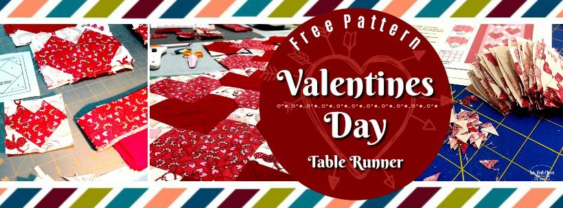 Valentines Day Table Runner - Blog Header