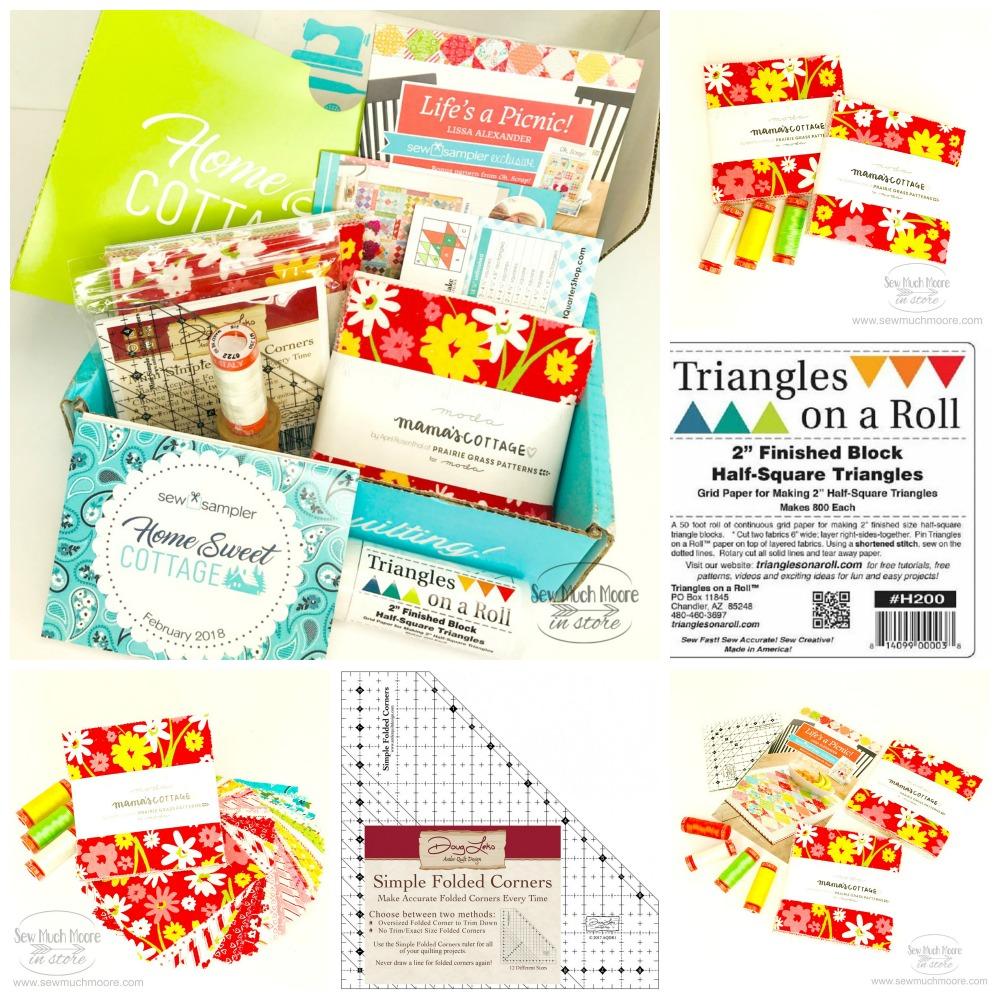 Sew Sampler Home Sweet Cottage Collage