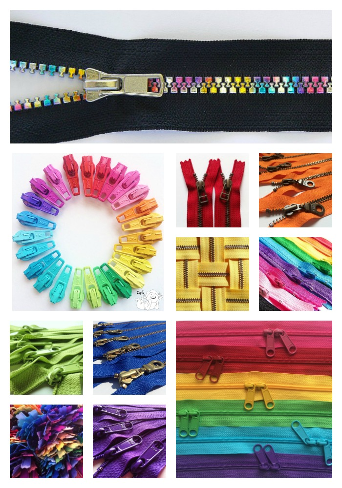 Zippers from Zipit are really the best source of zippers online. They have all sizes, colors and types! #zippers #sewing