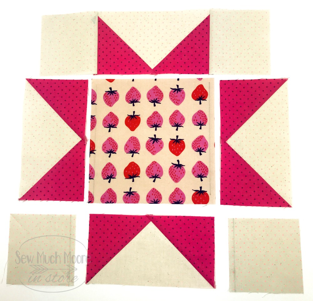 Eight Point Star Quilt Block - Exploded View