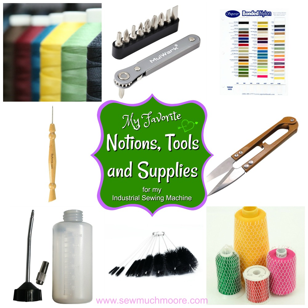 Industrial Sewing Machine Notions Tools and Supplies Collage