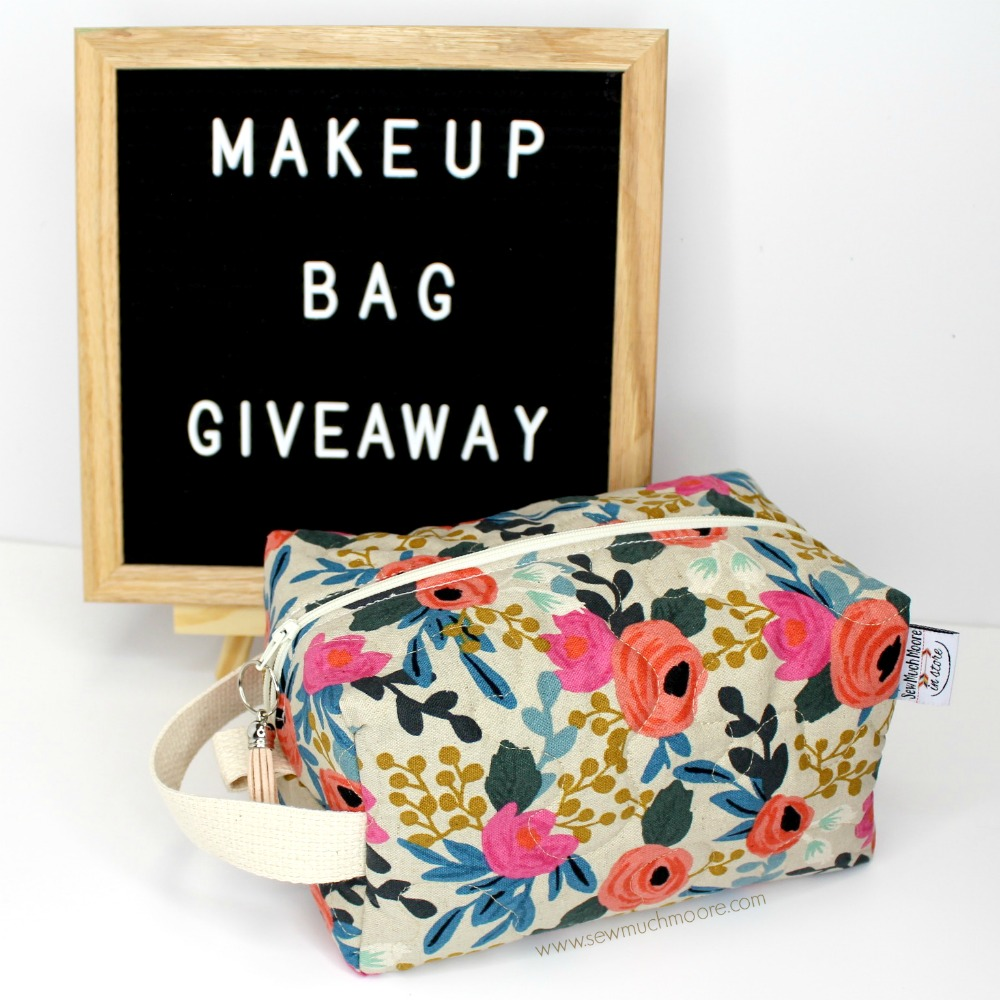 Industrial Sewing Machine - Sewing with Cotton Rifle Paper Company Makeup Bag Giveaway 1