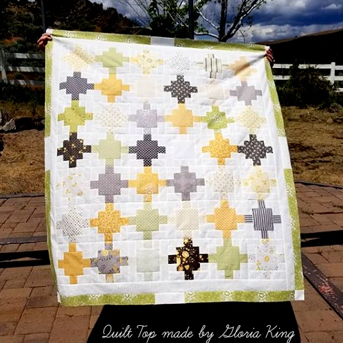 Sew Sampler Bee Creative May 2018 Completed Beehive Quilt Top