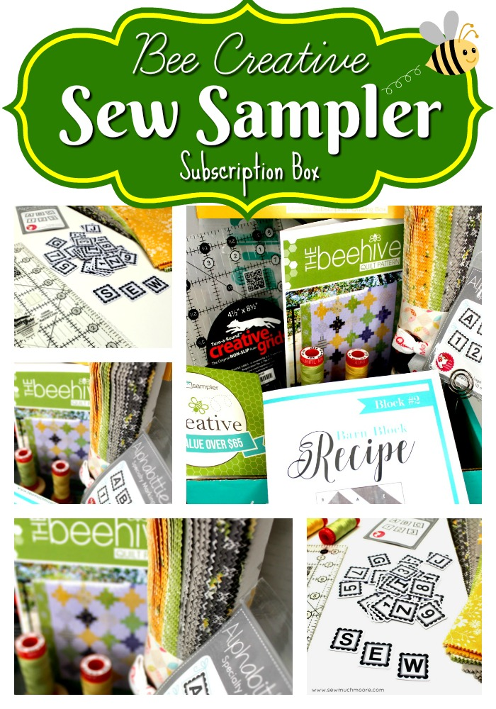 Sew Sampler Bee Creative May 2018 Pinterest Pin 2
