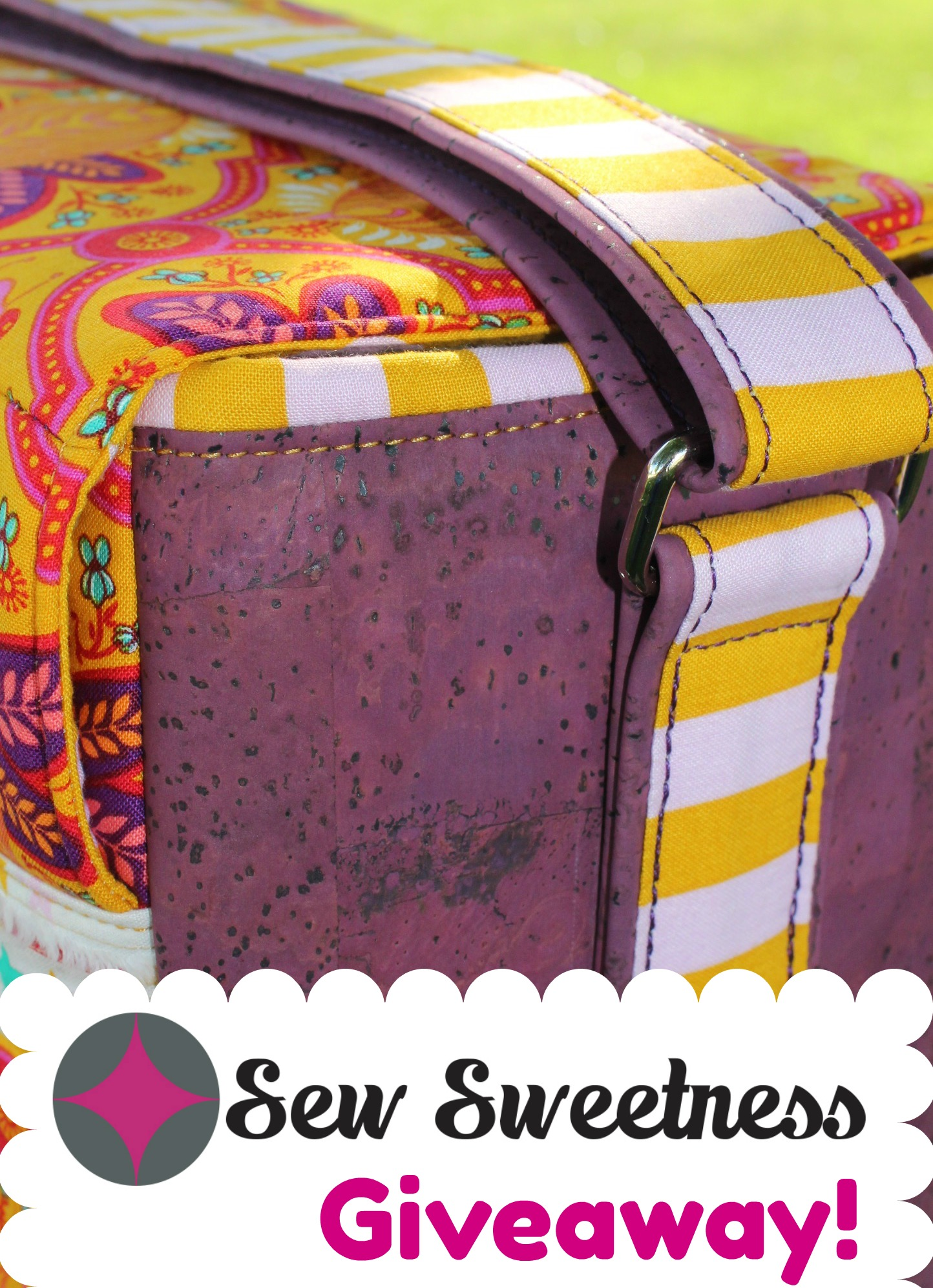 Sewing with Cork - Ansel Camera Bag - Sew Sweetness Giveaway