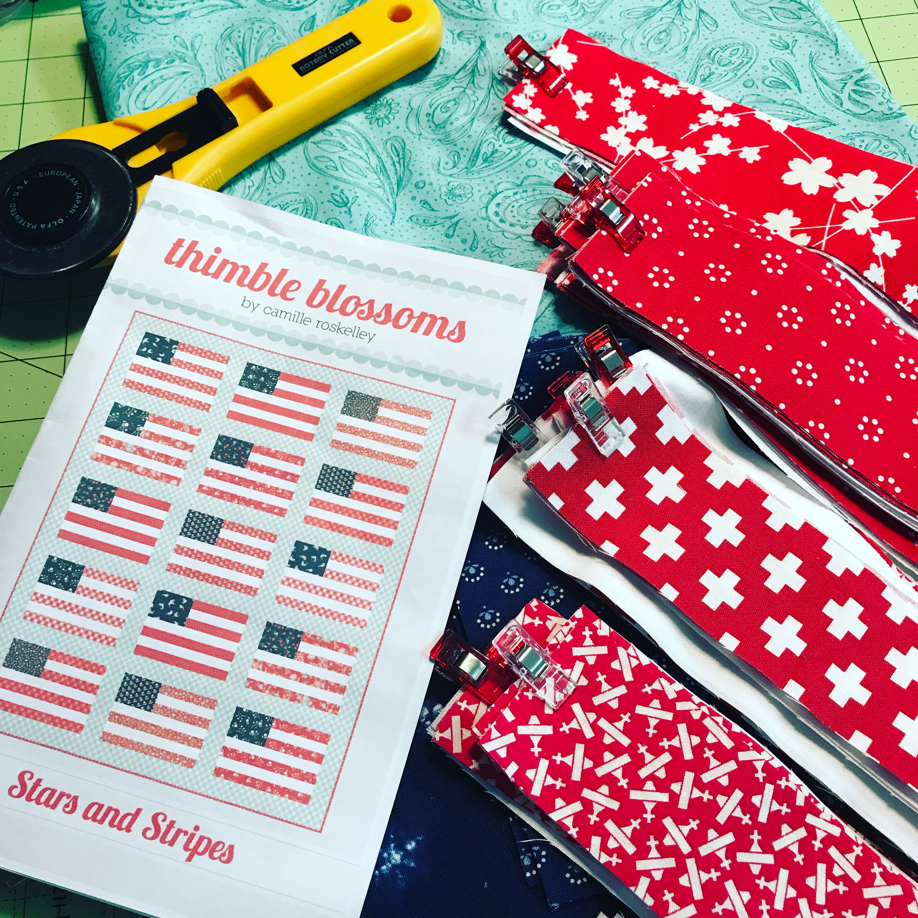 Stars and Stripes Quilt - choosing the fabric