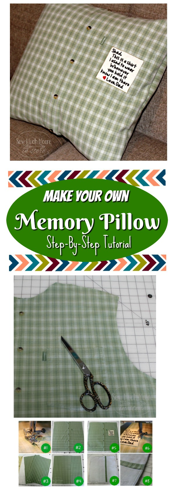 Memory Pillow Pinterest Pin