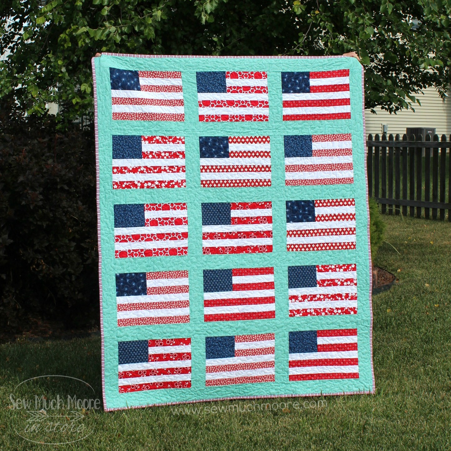 Stars and Stripes Quilt Finished Quilt by Nicole Moore