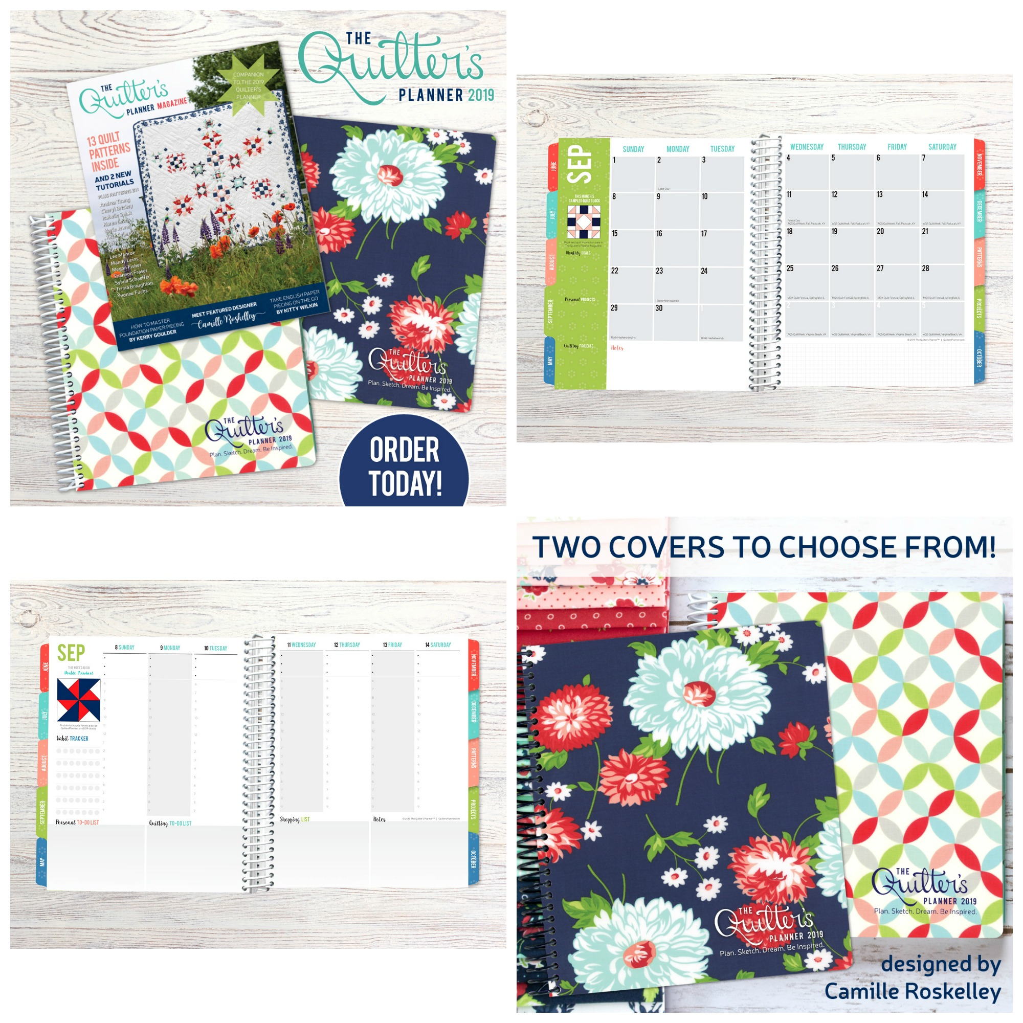 2019 Quilters Planner Collage