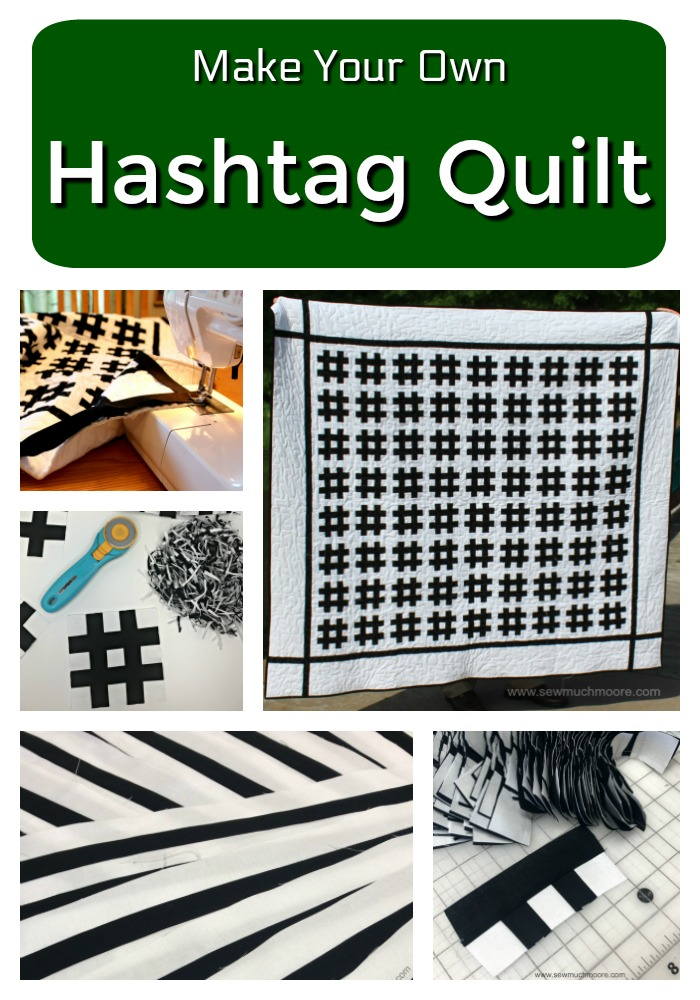 Hashtag Graduation Quilt - Make this fun and modern quilt! Watch the video and use the tutorial and make your own! #DIY #Quilt #ModernQuilting #HashtagQuiltBlock #HastagQuilt #StripologyRuler #ContemporaryQuilt