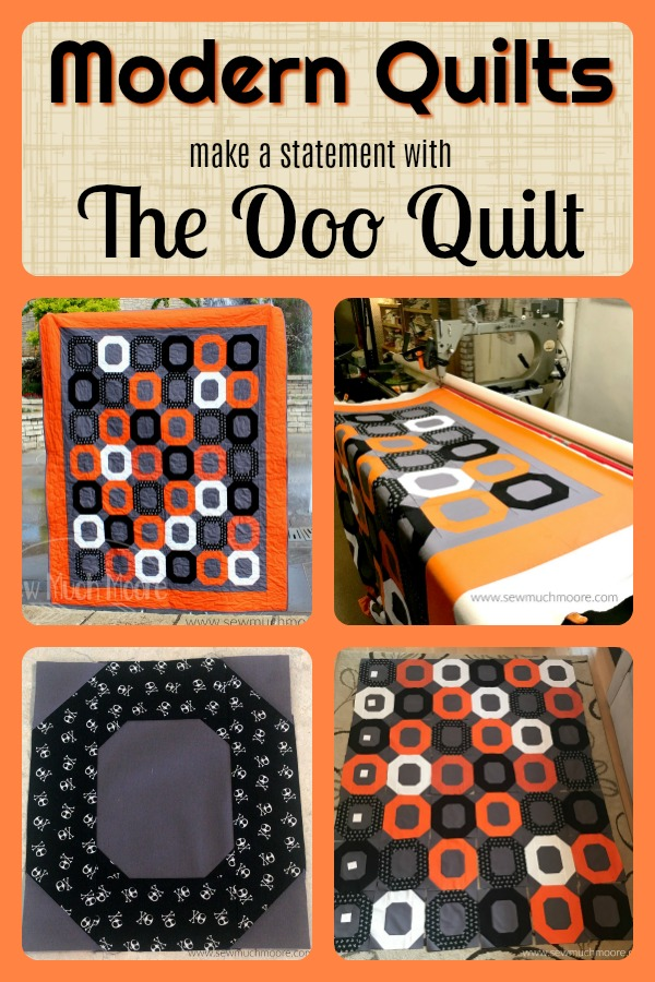 The Ooo Quilt is a fun and modern quilt! This quilt is a super easy pattern! There is even a great video tutorial! #quilt #modernquilting