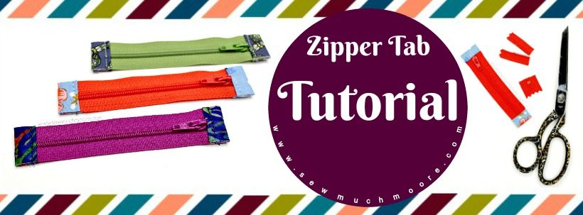 Zipper Tab Tutorial. Learn to make zipper tabs! #Sewing #Zipper #SewMuchMooreInStore #SewMuchMoore