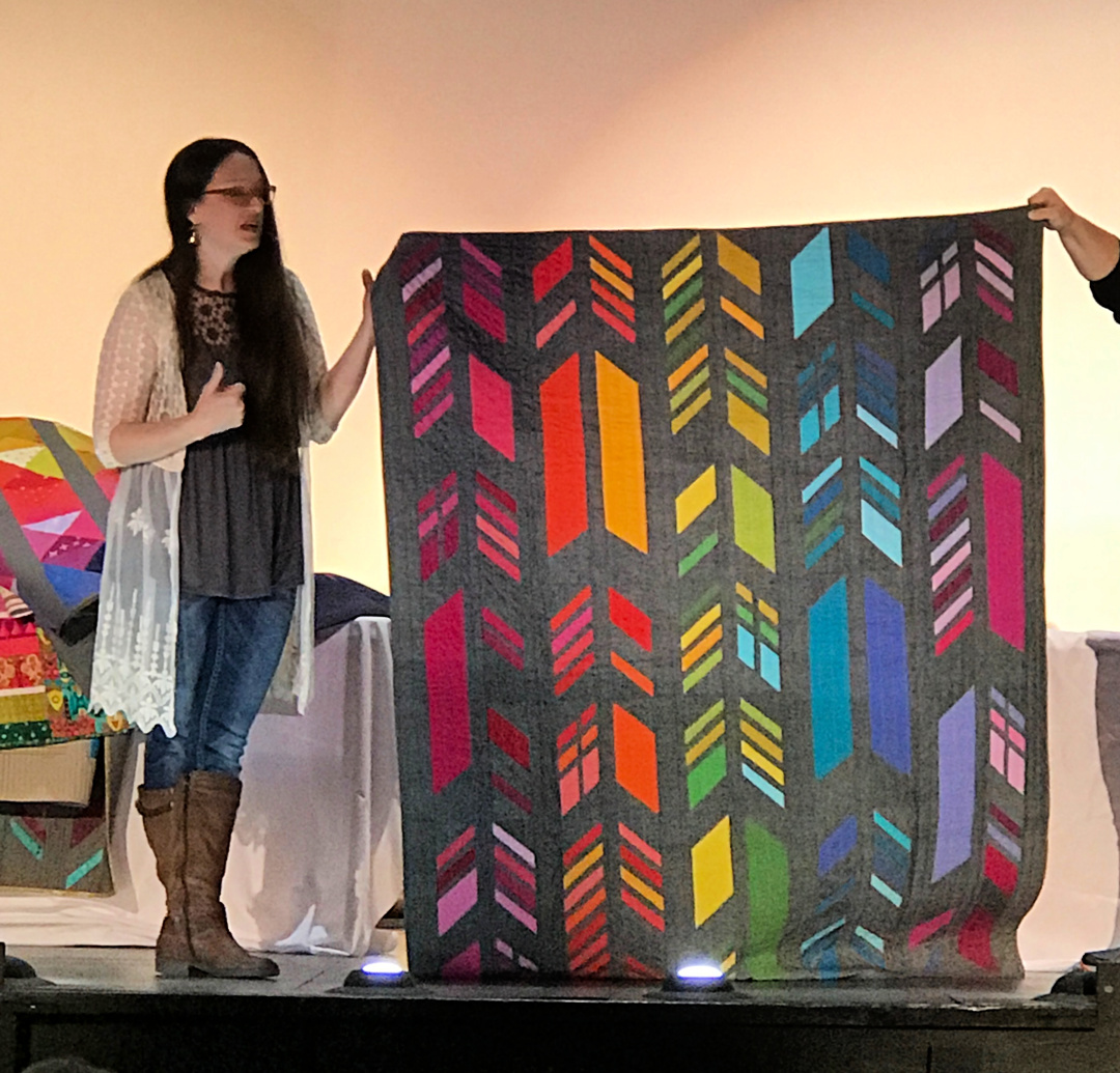 Alison Glass Trunk Show - Feathers Quilt 1