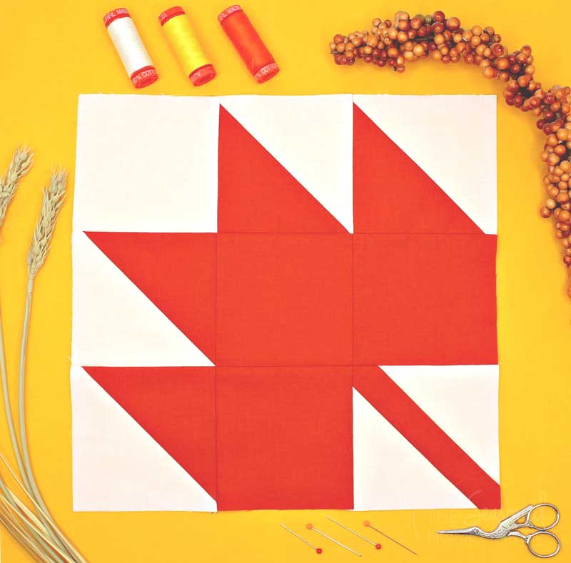 15 Fabulous Patterns for Fall - The Maple Leaf - Let me share some really great patterns and inspiration with you so you can start creating! Check out these 15 fabulous patterns for fall! #simple #TableRunners #AutumnLeaves #JellyRolls #WallHangings #FallQuiltBlocks #Quilting #ColorCombos #Fabric #PaperPiecing #Fun #Easy #Quick #pattern