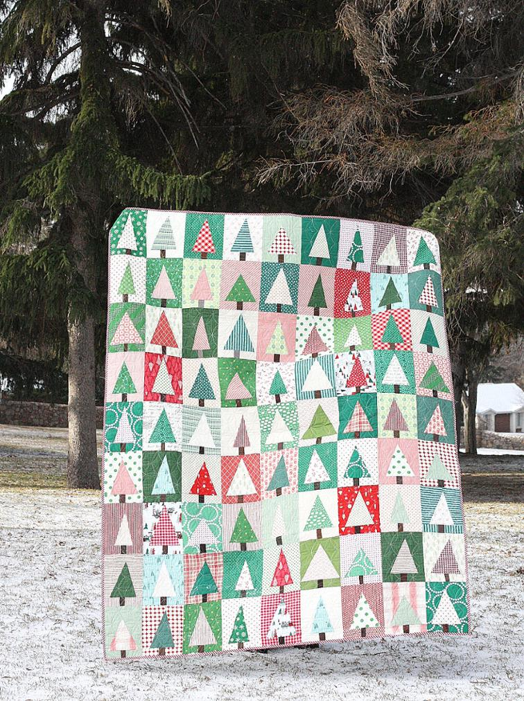"Improv Christmas Tree - Check out this collection of fun and exciting patterns! Get started on your own Handmade Christmas! #Pattern #Printables #Quilts #Pillows #Easy #Templates #ForBeginners #Beginner #Art #Design #ArtDesign #Block #ChristmasQuilt #ForBeginners #quilt #Quilts #Quilting #ideas #modern #ToMake #Simple #Blocks #Tutorial #quilting #sewing #handmade #Project #Patchwork #Contemporary #WalkingFoot #DIY #Fabric #Bedding #OfTheMonth #12"" #Vintage #Modern #Star #Scrappy #Free #Quick #project #DIY #Sampler #Ideas #Basic #HST #12Inch #StepByStep #QuiltBlock #BOM #SewMuchMoore #SewMuchMooreInStore"