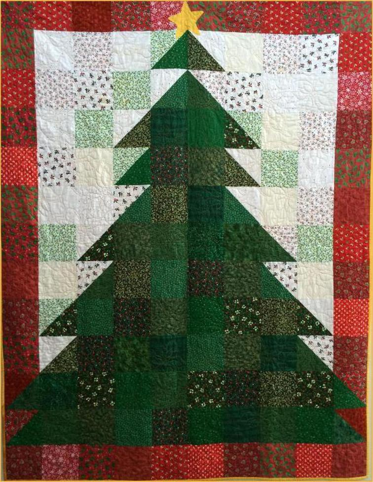 "Christmas Tree Quilt - Check out this collection of fun and exciting patterns! Get started on your own Handmade Christmas! #Pattern #Printables #Quilts #Pillows #Easy #Templates #ForBeginners #Beginner #Art #Design #ArtDesign #Block #ChristmasQuilt #ForBeginners #quilt #Quilts #Quilting #ideas #modern #ToMake #Simple #Blocks #Tutorial #quilting #sewing #handmade #Project #Patchwork #Contemporary #WalkingFoot #DIY #Fabric #Bedding #OfTheMonth #12"" #Vintage #Modern #Star #Scrappy #Free #Quick #project #DIY #Sampler #Ideas #Basic #HST #12Inch #StepByStep #QuiltBlock #BOM #SewMuchMoore #SewMuchMooreInStore"