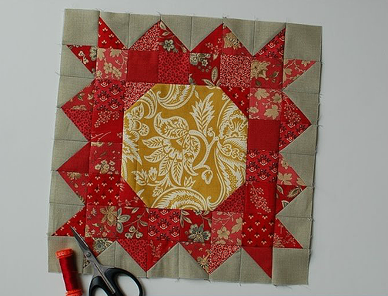 15 Fabulous Patterns for Fall - pat-sloan-aurifil-block-11 - Let me share some really great patterns and inspiration with you so you can start creating! Check out these 15 fabulous patterns for fall! #simple #TableRunners #AutumnLeaves #JellyRolls #WallHangings #FallQuiltBlocks #Quilting #ColorCombos #Fabric #PaperPiecing #Fun #Easy #Quick #pattern