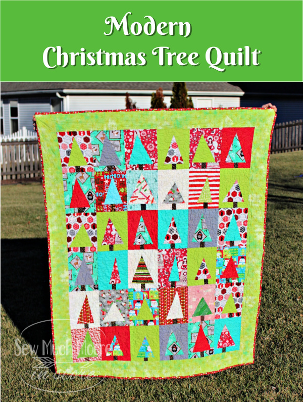Modern Christmas Tree Quilt - Make this fun quilt and learn some tips to make your