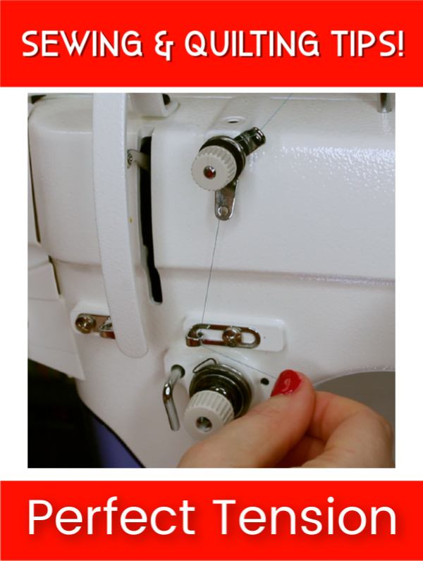 Achieving perfect thread tension is essential when sewing and quilting. Check out these tips and tricks and watch the video tutorial. #forBeginners #Easy #ForTheHome #DIY #Sewing #troubleshoot #Beginner #simple #video #sewingmachine #quick #tutorial #SewMuchMoore #SewMuchMooreInStore
