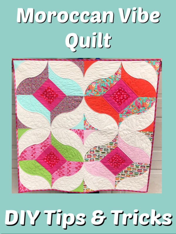 Sewing Curves is fun and easy!  Make a Moroccan Vibe Quilt with your Sew Kind of Wonderful Quick Curve Ruler!  Let me show you how!#ForBeginners #easy #QCR #Curvit #HowTo #quilt #Quilts #Quilting #ideas #modern #ToMake #Designs #Simple #Tutorial #project #Contemporary #Handmade #Moroccan #Ideas #DIY #Fabric #SewMuchMoore #SewMuchMooreInStore