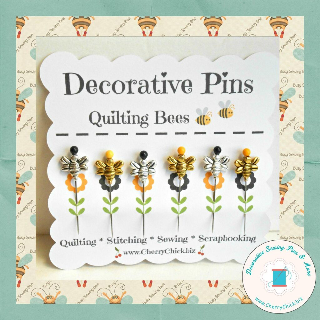 Handmade Mother's Day - Bee Sewing Pins