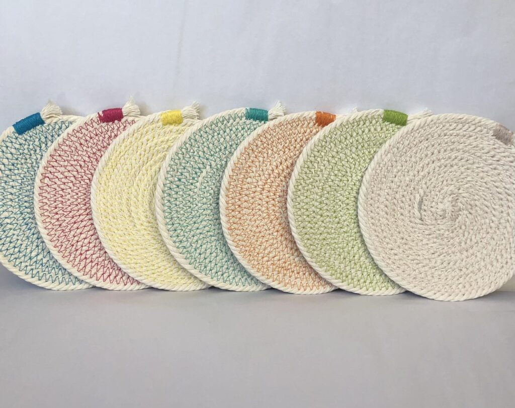 Handmade Mother's Day - Cotton Rope Coasters