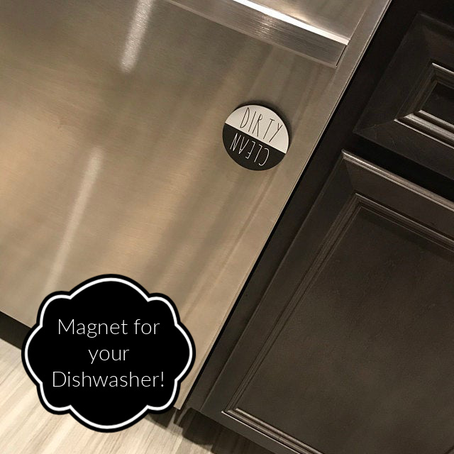 Handmade Mother's Day - Magnet for Dishwasher Dirty/Clean