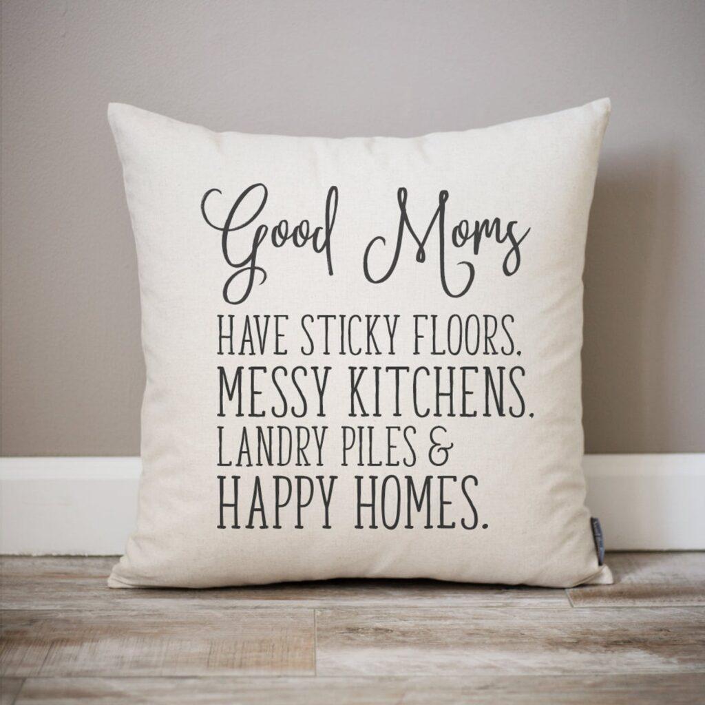 Handmade Mother's Day - Good Mom Pillow