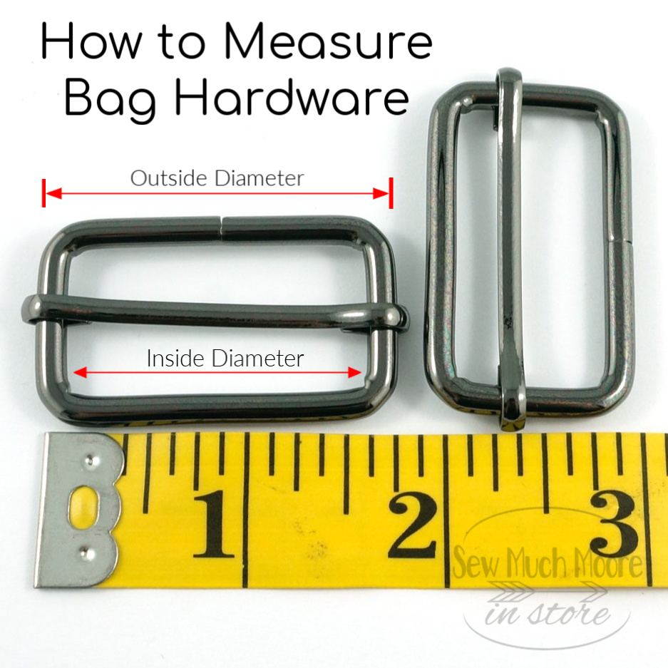 In this Step-by-Step tutorial, I will show you how to add the necessary hardware to complete your adjustable (and removable) bag strap. Watch the video too!!! #AdjustableStrap #BagStrap #DIY #RemovableStrap #MakeYourOwn #VideoTutorial #Easy #Sewing #BagMaker #SewMuchMooreInStore #SewMuchMoore