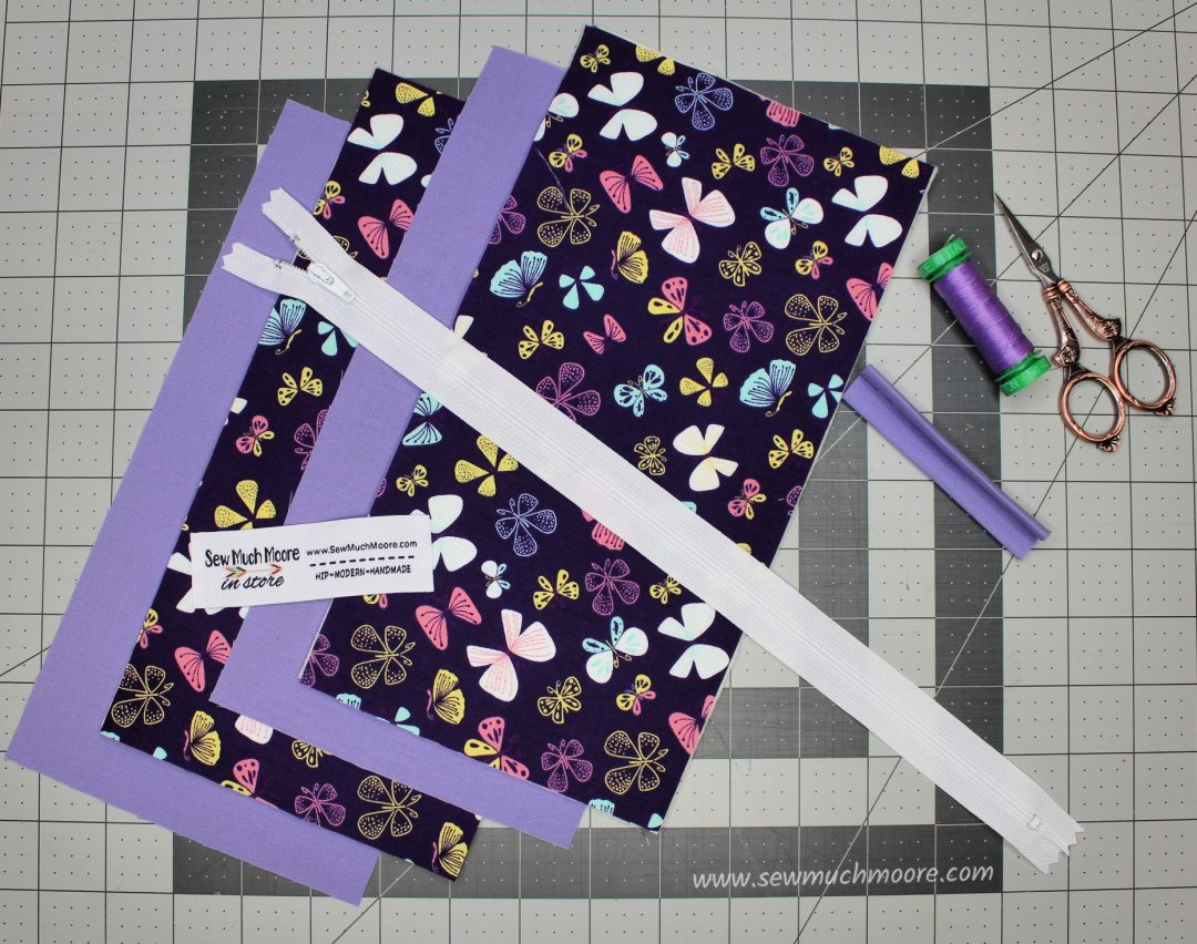 Making your own pencil pouch is fun and simple!  Be sure to follow along in my step by step tutorial. I even made a video! Let's make a Pencil Pouch! #pencilpouch #Sewing #BackToSchool #Easy #Beginner #VideoTutorial #DIY #SewMuchMoore #SewMuchMooreInStore